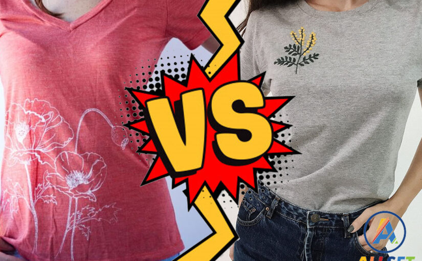 Difference between color printing and embroidery